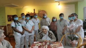 Visite à Madame Mignot, doyenne de la commune